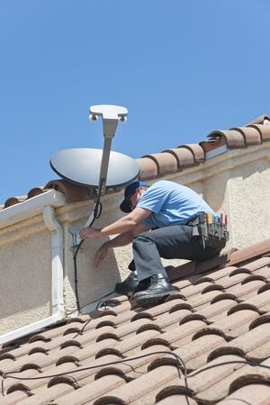 installer: Satellite Installer on Roof