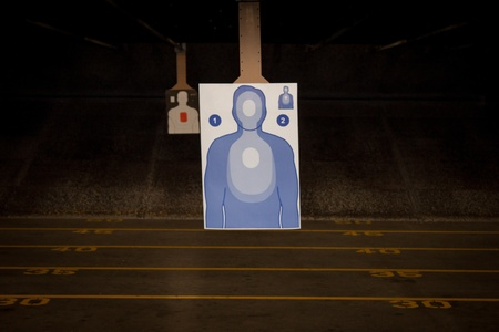 Target Practice at the Gun Range Stock Photo