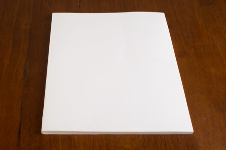 Blank White Book or Magazine Stock Photo