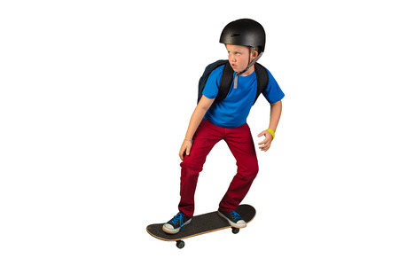 Boy Riding Skateboard