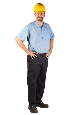 A blue collar worker  Stock Photo