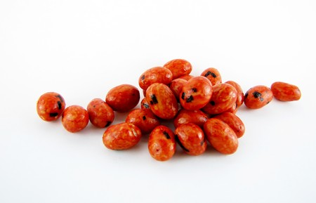 Iso Peanuts are a popular Asian snack in Japan and Hawaii. Typically eaten while drinking beer or alcohol. Stock Photo