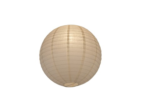 Round Paper Lantern Ball isolated on a white background Stock Photo