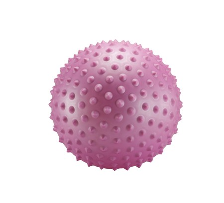 spiky: Pink spiky ball isolated on a white background