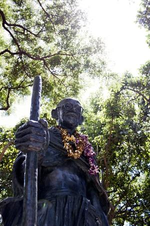 gandhi: Statue of Mahatma Gandhi located in Waikiki Hawaii