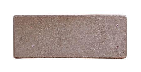 faux: finto di pietra o legno segno con spazio di copia Archivio Fotografico