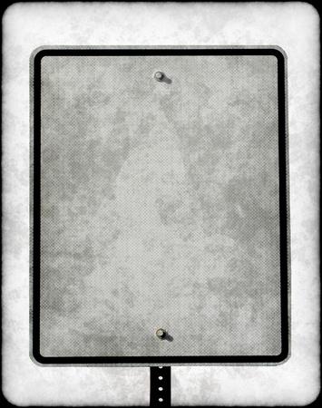 grunty blank street sign Standard-Bild