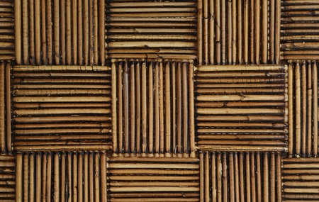 old rattan weaved into a pattern Stock Photo
