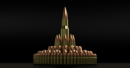 9mm ammo: Bullets Stock Photo