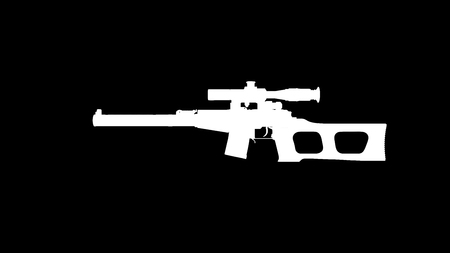 Rifle silhouette   3d Illustration  3d Rendering