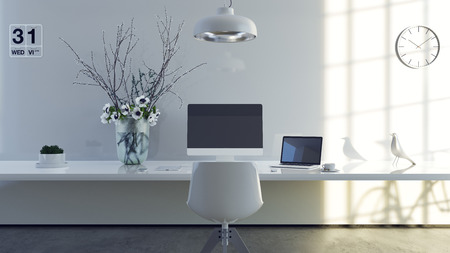 small business: Contemporary Office Day Time Stock Photo