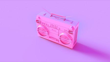 Pink Boombox Stock Photo