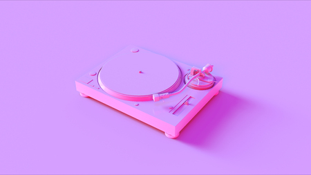 Pink Turntable  Record Player