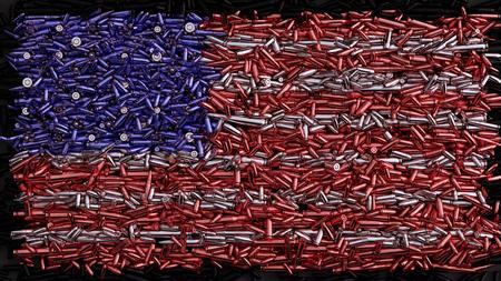 Flaga USA utworzona z kul Zdjęcie Seryjne