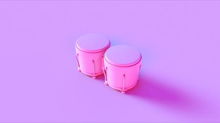 Pink Bongo drums