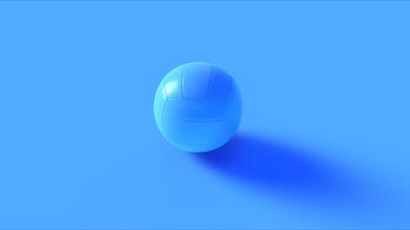 Blue Volleyball 3d illustration 3d rendering