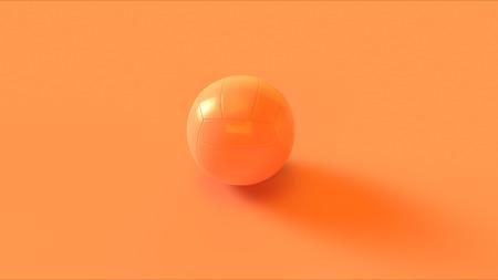 Orange Peach Volleyball