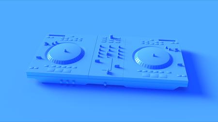 Bright Blue DJ Decks