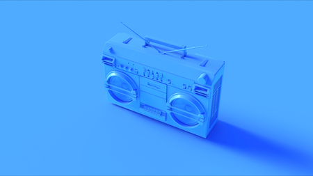 明るい青いカセット テープ