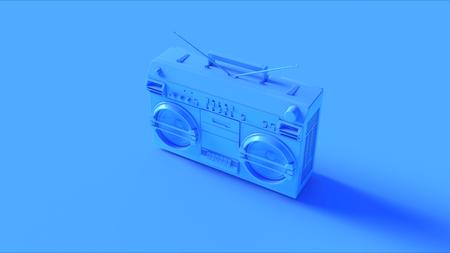 밝은 파랑 카세트 테이프