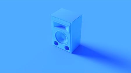 Bright Blue Speaker 3d illustration 3d rendering Stock Photo