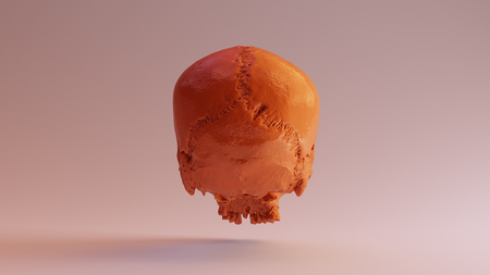 Caramel Skull 3d illustration 3d rendering www.thingiverse.comscsuvizlababout - (CC Attribution) Stock Photo