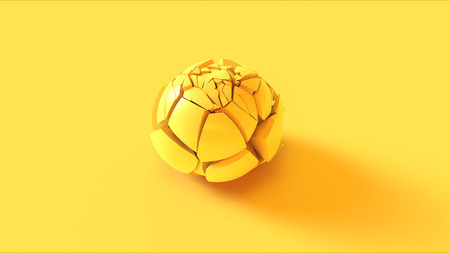 Yellow Cracked Sphere