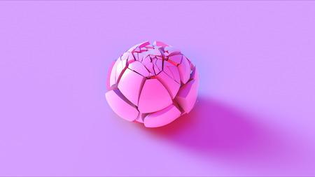 Pink Cracked Sphere