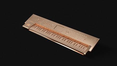 Brass Keyboard 3d illustration 3d rendering