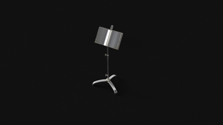 Silver Sheet Music Stand 3d illustration 3d rendering