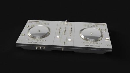 Silver DJ Decks 3d illustration 3d rendering Stock Photo