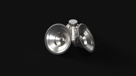 Silver Speakers 3d illustration 3d rendering Stock Photo