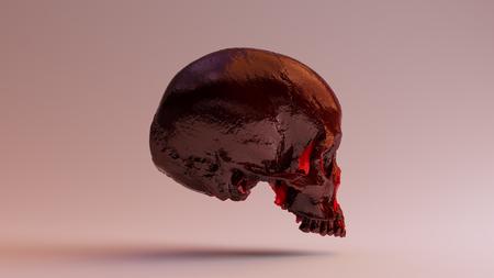 Red Jam Skull 3d illustration 3d rendering