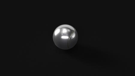 Silver Tennis Ball 3d illustration 3d rendering Stock Photo