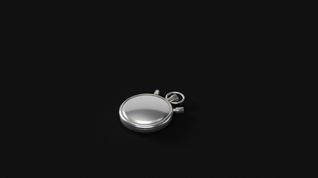 Silver Watch 3d illustration 3d rendering