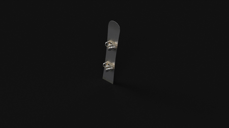 Silver Snowboard 3d illustration 3d rendering