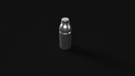 Silver Sports Drink 3d illustration 3d rendering