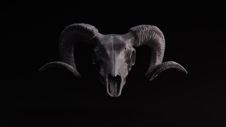 Grey Ram Skull 3d illustration 3d rendering scsuvizlab - (CC Attribution)