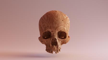 彫刻されたウッドスカル3Dイラスト3Dレンダリングscsuvizlab - (CCアトリビューション) 写真素材