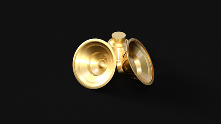 Gold Speakers 3d illustration 3d rendering Reklamní fotografie