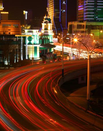 night scenery: Night scenery at city of Harbin, China