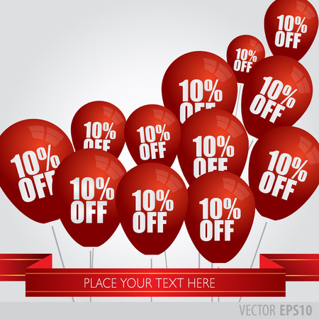 red balloons: Red balloons With Sale Discounts 10 percent.