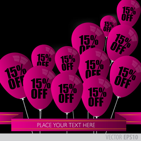 boxing day sale: Purple balloons With Sale Discounts 15 percent.