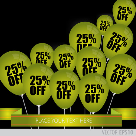 boxing day sale: Green balloons With Sale Discounts 25 percent.