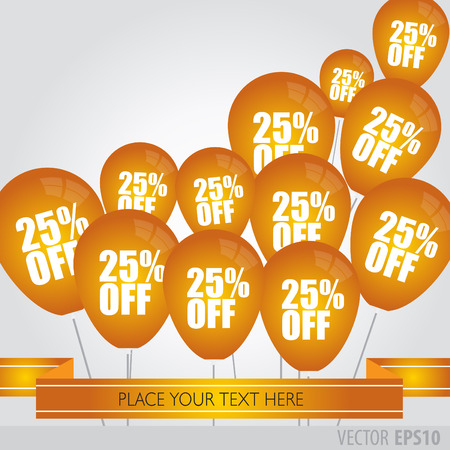 boxing day sale: Orange balloons With Sale Discounts 25 percent.