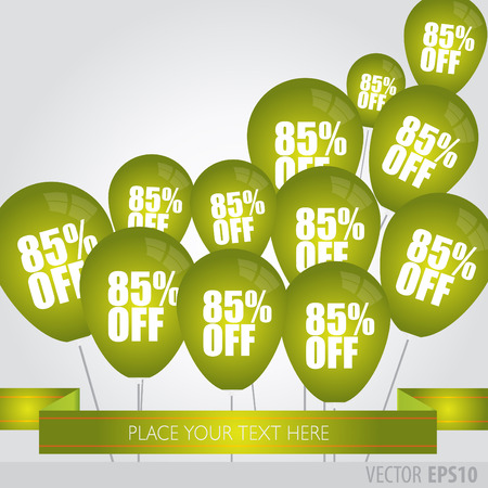 green balloons: Green balloons With Sale Discounts 85 percent.