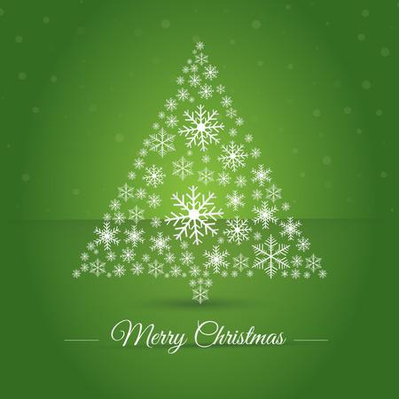 christmas tree illustration: Christmas tree made osnowflakes. Eps 10. Vector illustration. Merry Christmas 2016