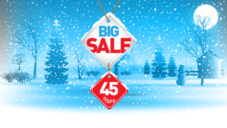 Big winter sale, 45  percent. Ilustrace