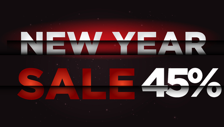 New Year Sale . Big winter sale,  45  percent