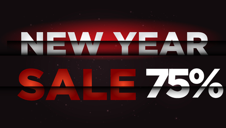 New Year Sale . Big winter sale,  75  percent Ilustrace